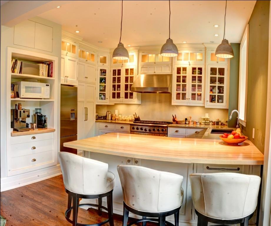Kitchen with black dots